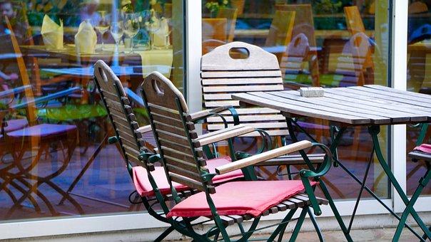 Beer Garden, Table, Chairs, Restaurant