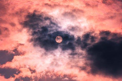 Sun, Clouds, Sky, Landscape, Sunset