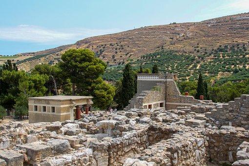 Knossos, Site, Crete, Archélogie, Greece