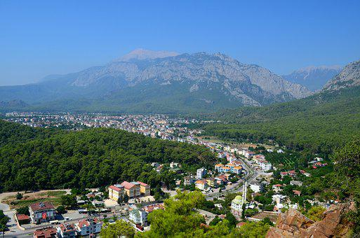 Kemer, Turkey, Mountains, A Town, Nature, Journey