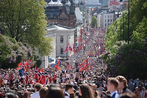 Syttende, Mai, May, Oslo, Time, Karl Johan's Gate