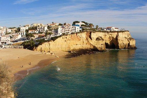 Portugal, Algarve, Cliffs, Costa, Sea
