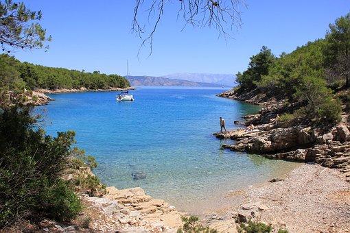 Adria, Hvar Island, Bay, Sea, Water, Ship, Vista