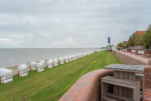 Wilhelmshaven, South Beach, Promenade, Jade