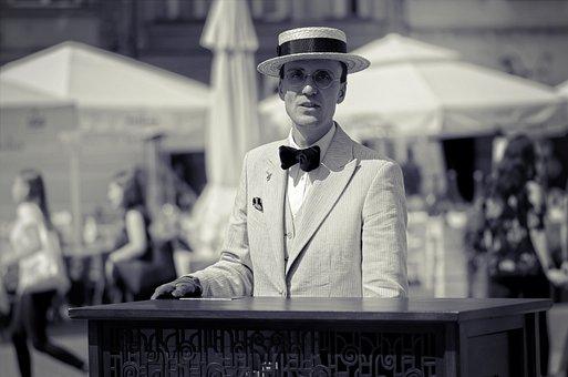 Man, Adult, Person, Suit, Epoch, Hat