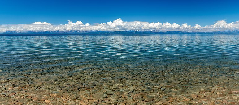 Landscape, Lake, Transparent Water, Calm, Spread