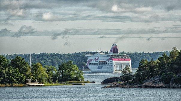 Ferry, Baltika, Sea, Tourism, Vacation, Water, Beach