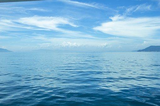 Sea, Sky, Water, Cloud, Nature, Landscape, Peaceful