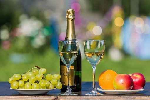 Drinks, Wine, Fruit, Glass, Bottle, Red, Celebration
