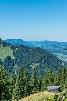 Hiking, Alm, Allgäu, Landscape, Alpine, Nature
