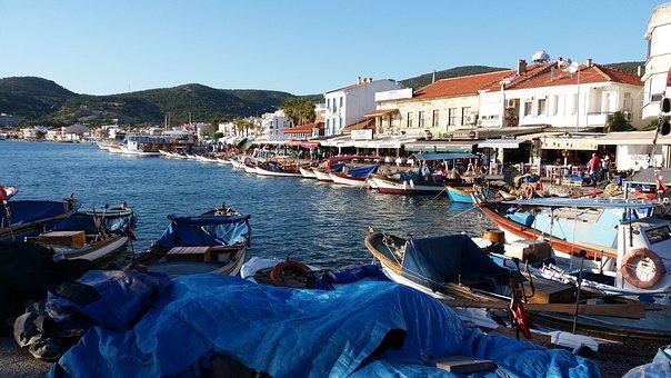 Foca, See, City, Izmir, Peace, Turkey, Boat, Sunset