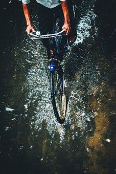 Cycle, Bike, Bicycle, Outdoor, Raindrop, Rain, Splash