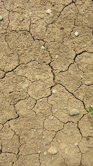 Dry Land, Dry Soil, Drought, Texture, Burnt