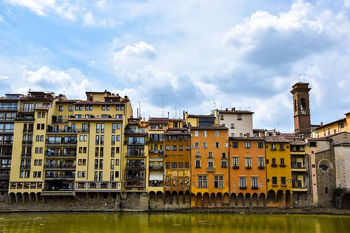 Florence, Houses, Color, Italy, Building, Architecture