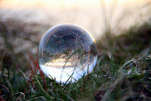 Lensball, Light, Grass, Ball, Creativity, Glass, Round