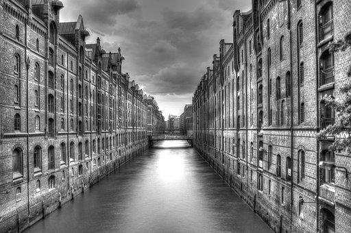 Hamburg, Speicherstadt, Architecture