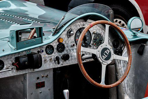 Racing Car, Historically, Steering Wheel, Classic