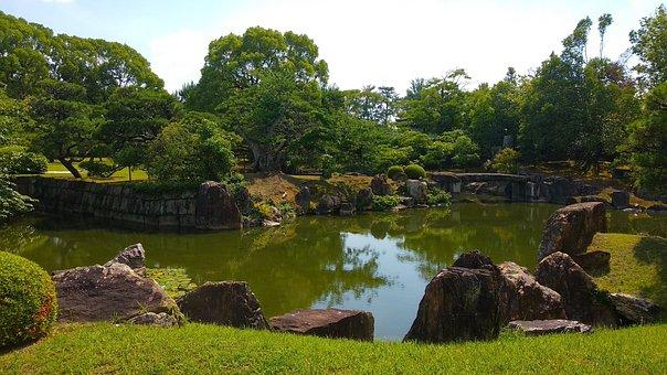Japan, Kyoto, Castle Nijo-jo, Zen