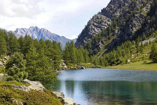 Mountain, Italia, Lake, Nature, Landscape, Italy