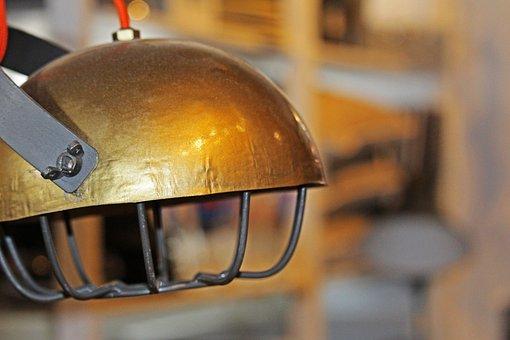 Lamp, Lampshade, Living Room, Light