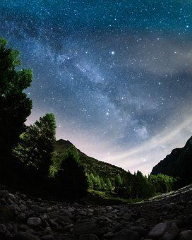 Milkyway, Stars, Longexposure, Nightscape, Mountains