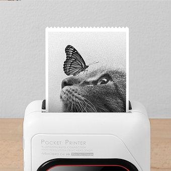 Printer, Memobird, G4, Pocket, Portable