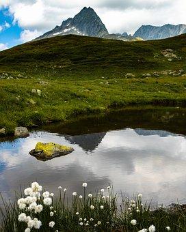 Mountain, Mirror, Reflection, Mirroring, Landscape