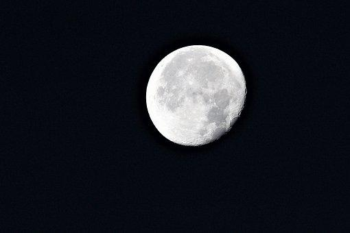 Moon, Sky, Slimming, Morning, Astronomy, Nature
