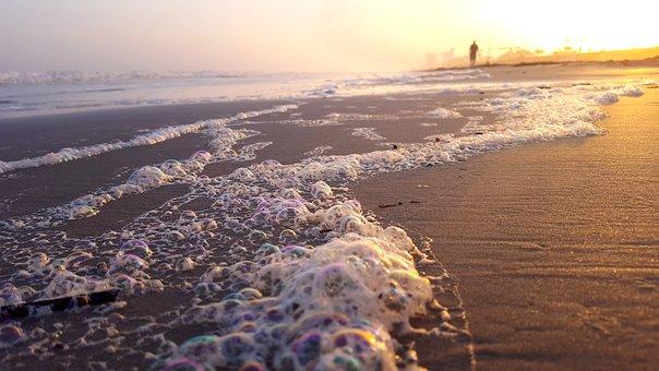 Ocean, Waves, Bubbles, Sea, Sea Foam