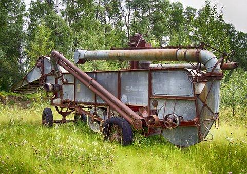 Threshing Machine, Antique, Old, Farm Implement
