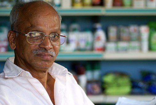 Indian, Man, Pharmacy, Face, Portrait, Business, People