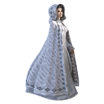 Woman, Gown, Female, White, Queen, Looking, Side