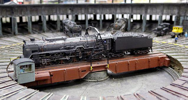 Steam Locomotive, Steam Train, N-gauge, Railroad Model