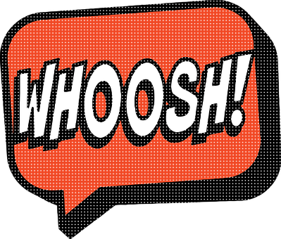 Superhero Comic, Speech Bubbles, Onomatopoeia, Woosh