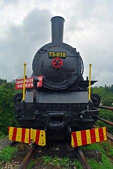 Locomotive, Steamroller, Transport, Transportation