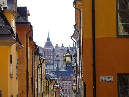 Street Escape, Stockholm, Houses, Facades, Architecture