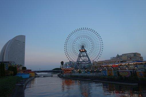Yokohama, Sunset, At Dusk, Minato Mirai, Minatomirai