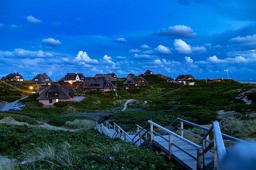 Dunes, Sylt, Evening, North Sea, Abendstimmung, Nature