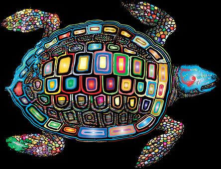 Sea Turtle, Animal, Vintage, Line Art, Turtle, Marine