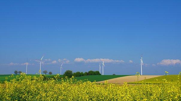 Wind Park, Wind Power, Landscape, Sachsen, Südpfalz