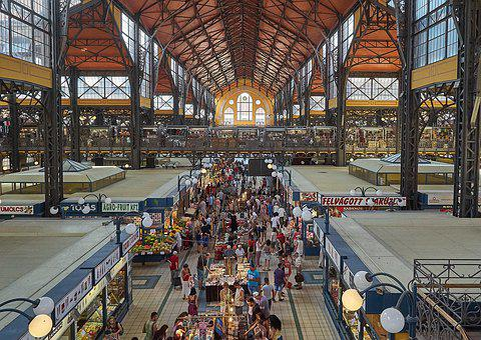 Market Hall, Budapest, Hungary, Historically, Food