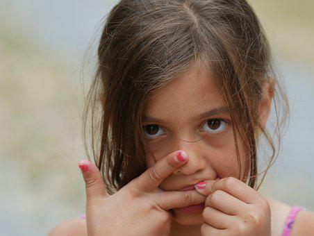 Girl, Young, Pretty, Expression, Human, Female, Child