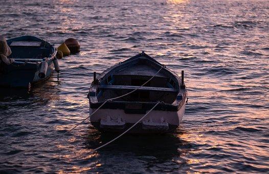 Blue, Boat, Calm, Coast, Enjoy, Fisherman, Fishing