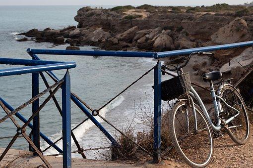 Beach, Bicycle, Bike, Biking, Cliff, Coast, Cycle