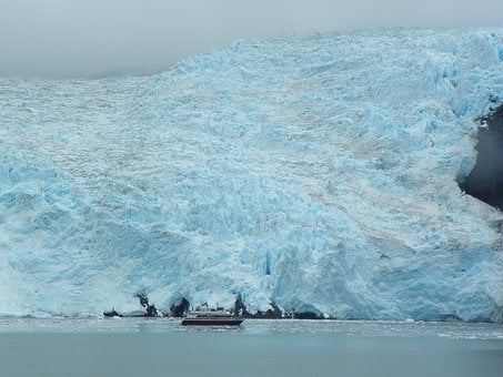 Boat, Ice Berg, Frozen, Alaska, Cold, Ice, Snow, Winter