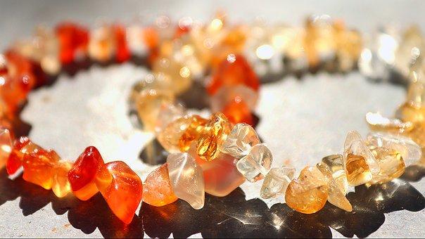 Gems, Karneol, Citrine, Crystals, Red Gemstone