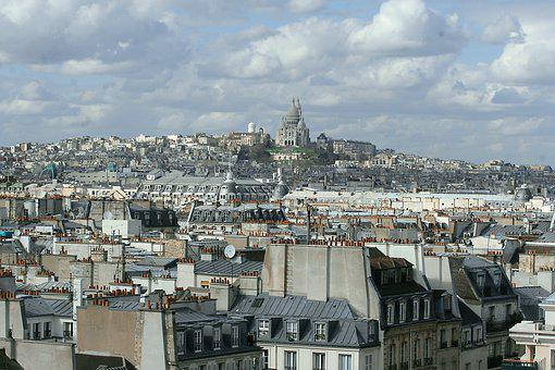 Paris, Montmartre, Church, Dom, Roofs, City, Panorama