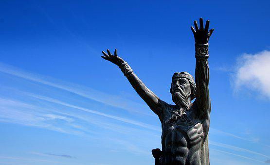 Lord Of The Seas, Statue, Sky, Deity, Neptune, Blessing