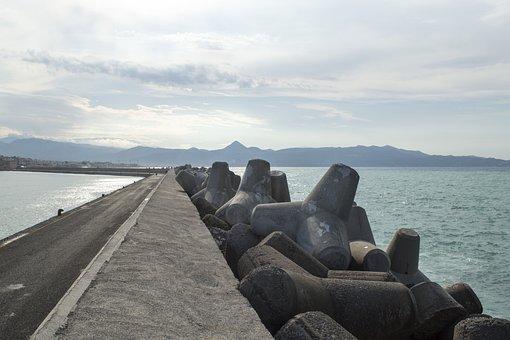 Concrete, Pier, Sea, Port