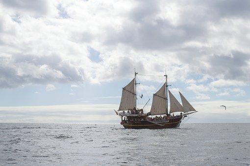 Sea, Water, Boat, Sailing, Sailing Boat, Ship, Blue